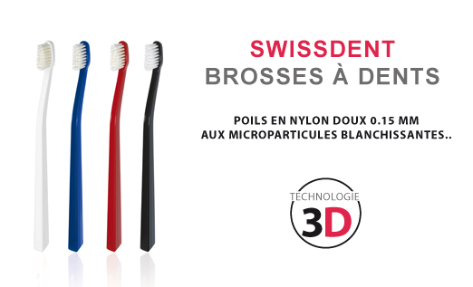 SWISSDENT BROSSES À DENTS (GRIS/ROUGE)